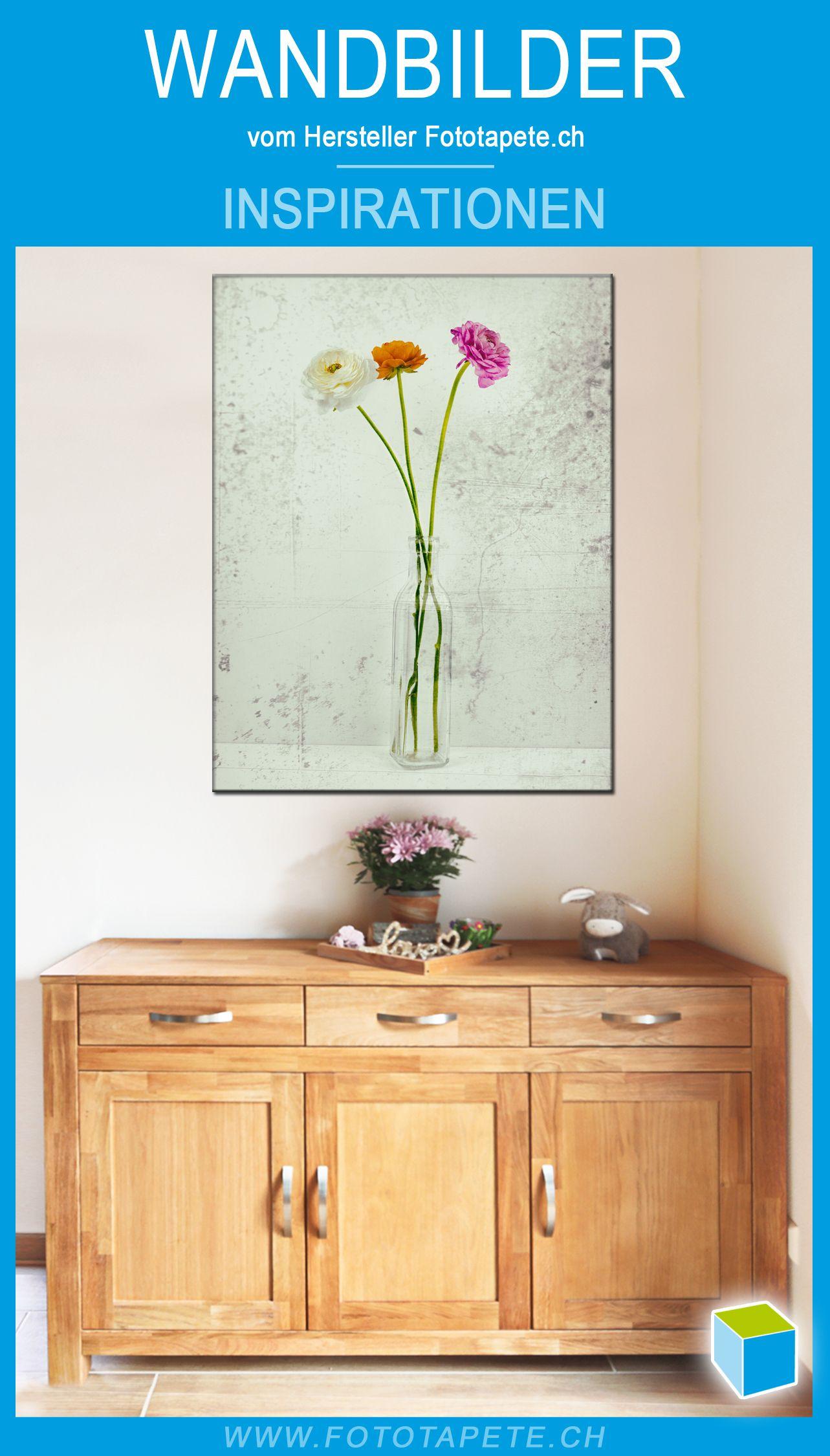 vintage wandbild ranunkel auf leinwand von fototapete ch in 2021 wandbilder wohnzimmerbilder wohnzimmerwand foto bestellen günstig drucken