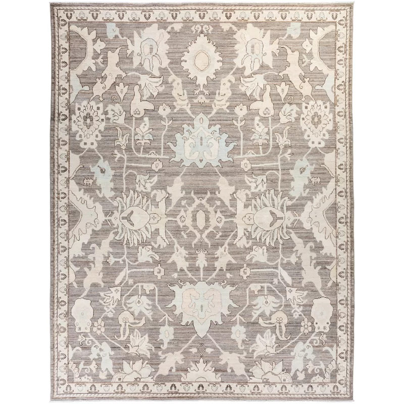 Solo Rugs Oushak One Of A Kind Hand Knotted Wool Area Rug Mist 9 X 12 In 2020 With Images Wool Area Rugs Solo Rugs Area Rugs