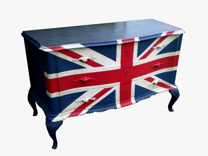 commode drapeau anglais vintage customisation restauration pinterest drapeau commodes. Black Bedroom Furniture Sets. Home Design Ideas