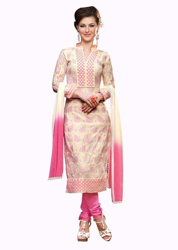 Mayloz Unstitched Georgette Embroidered Salwar Kameez M294-5503 At Aimdeals.com