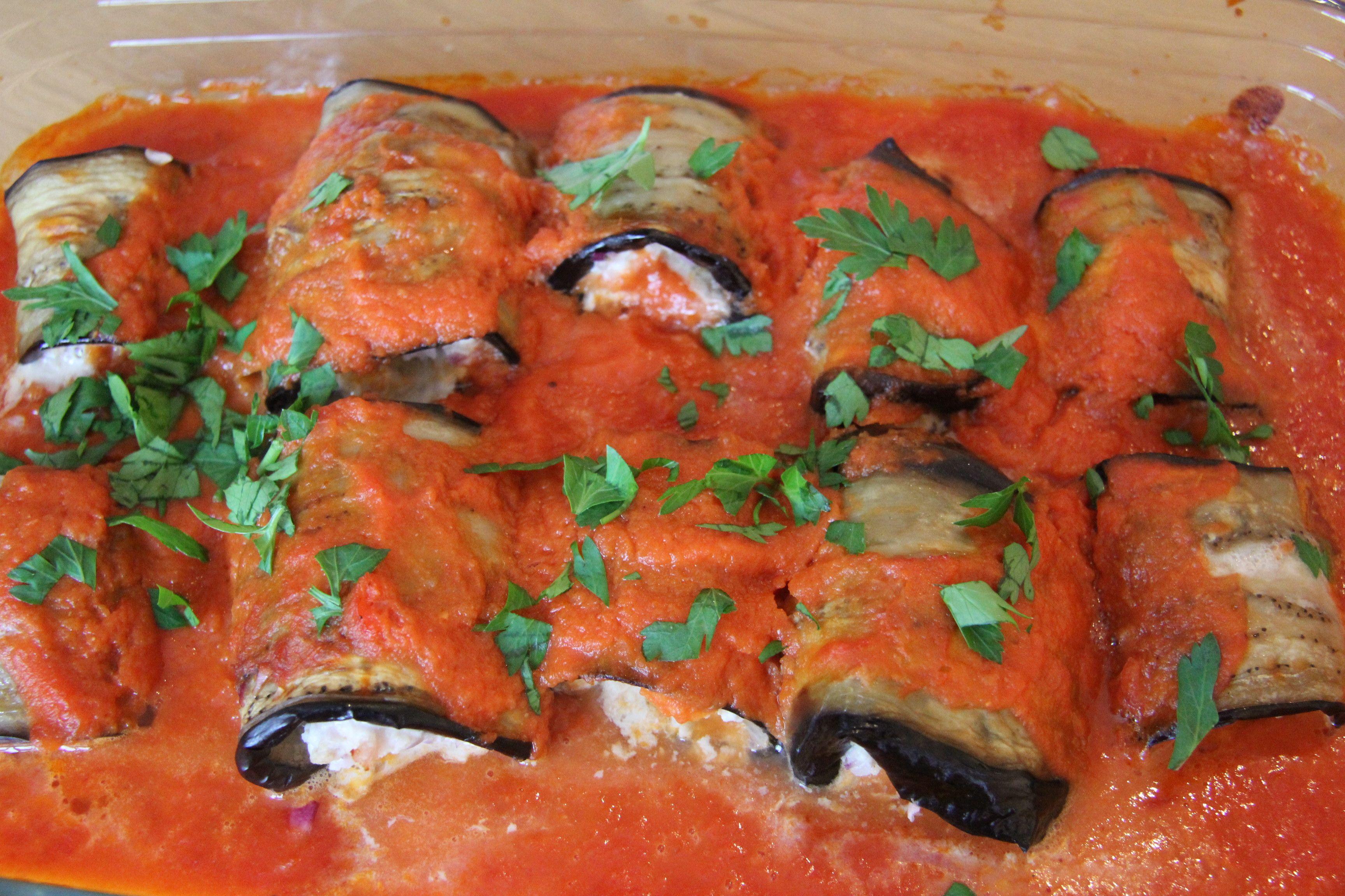 Turkey and eggplant rolls   Vegetarian pasta dishes ...