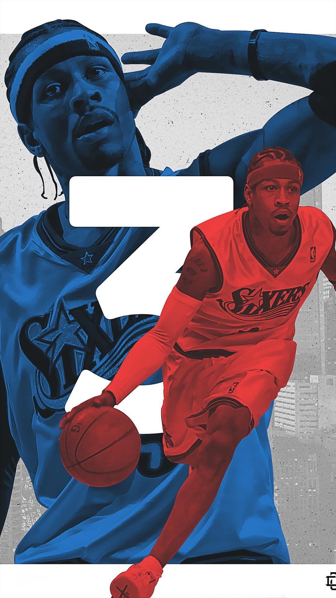 Allen Iverson Wallpaper Nba Basketball Art Nba Pictures Allen