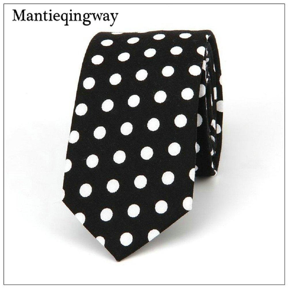 e0f32d0f2d49 Fashion Cotton Dot Neck Tie For Men Casual Wedding Neckties Classic Suits