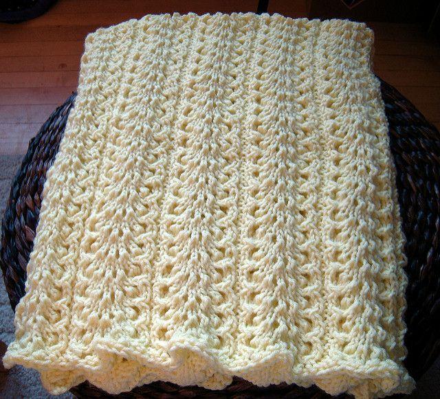 Elegantly Simple Baby Blanket pattern by Jackie Erickson-Schweitzer ...