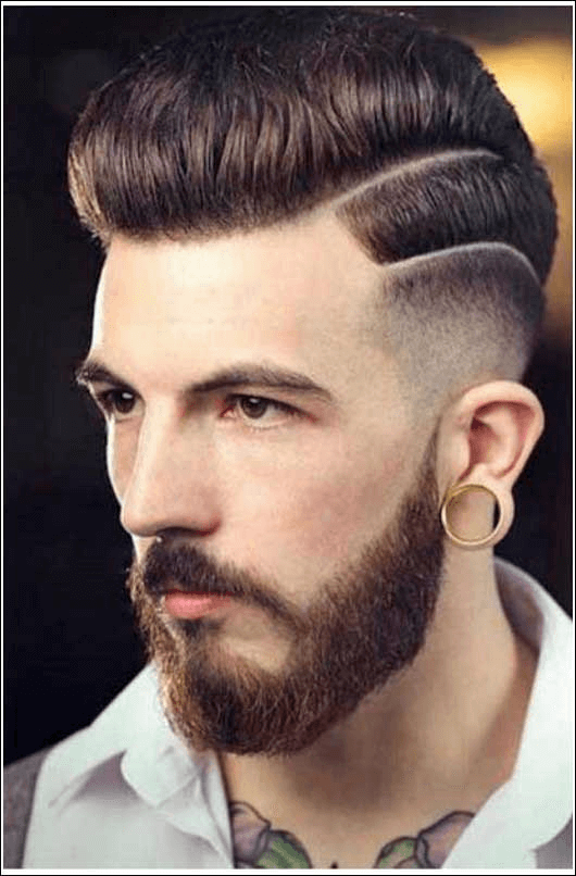Manner frisuren undercut mit bart