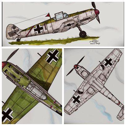 dibujo aviones , by tony.