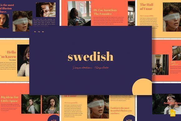 Swedish  Google Slides Template Swedish  Google Slides Template by deasign on creativemarket