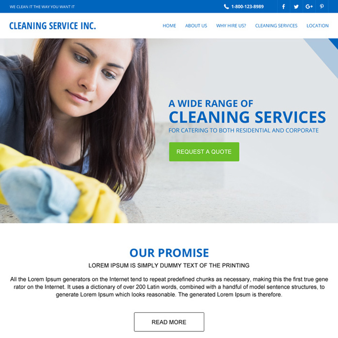 Pin by landing page design on cleaning service website