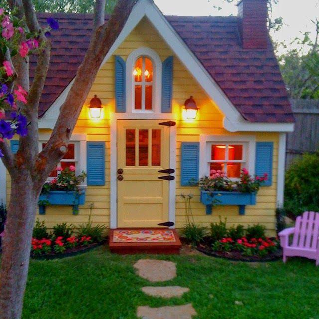 Beautiful Backyard Playhouse Bricolaje Pinterest Casitas - casitas de jardin para nios