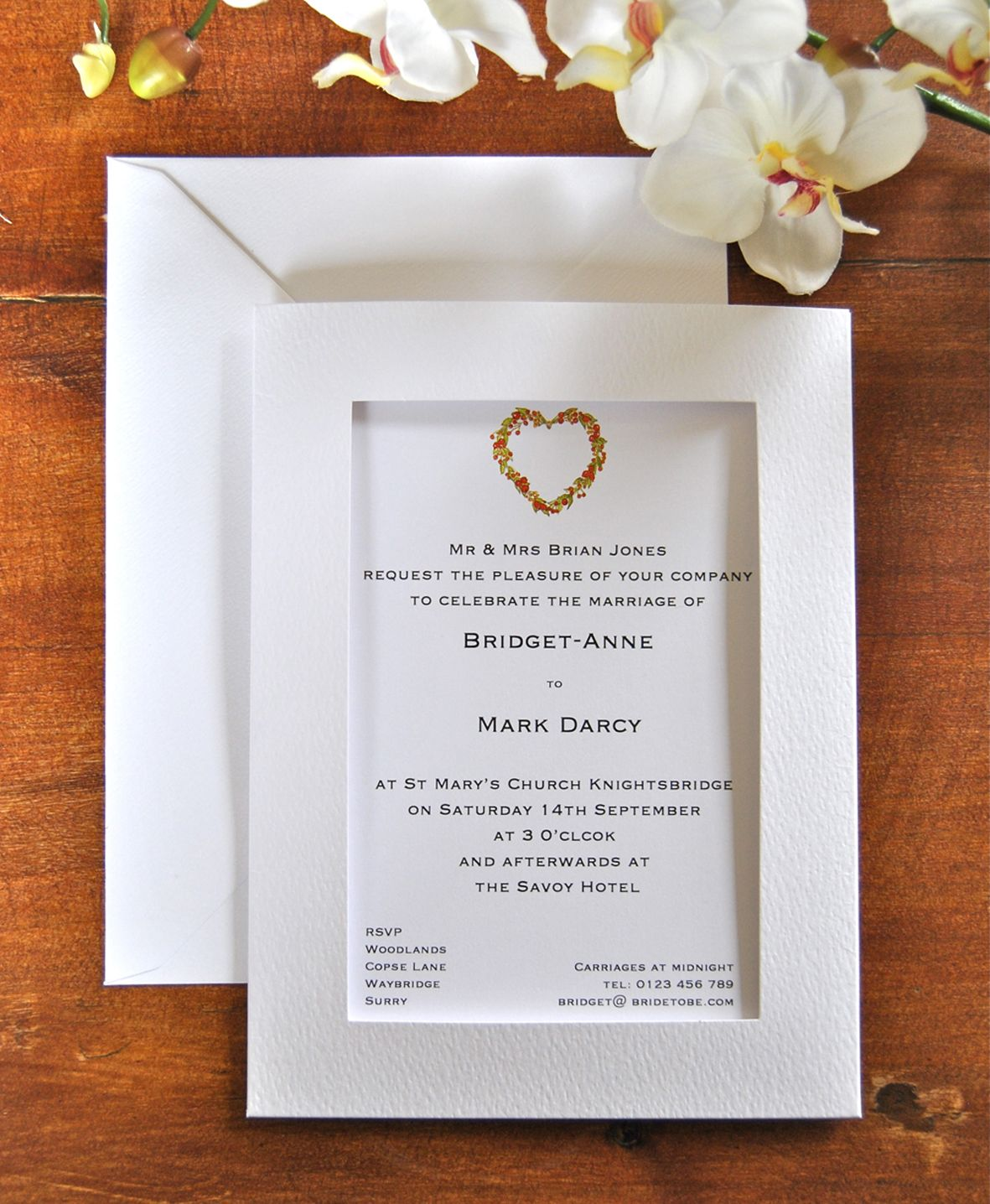 Window Wedding Invitation, \'Aperture\' wallet style invitation, with ...