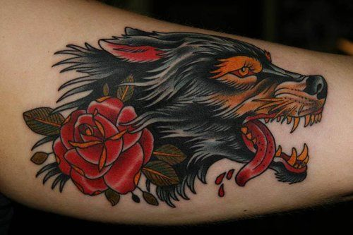 Vintage Wolf Wolf Tattoo Design Wolf Tattoos Wolf Tattoo Traditional