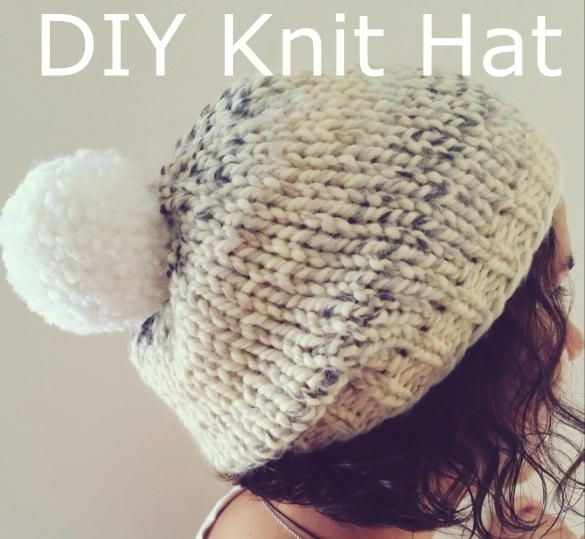 Marshmallow Fluff Chunky Hat   Tejido