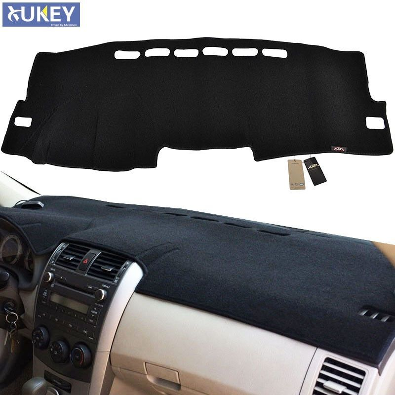 Xukey Lhd Dashboard Cover Dashmat Dash Mat Pad Sun Shade Dash Board Cover Carpet Fit For 2009 2010 2011 2012 2013 T Car Accessories Corolla Electronic Products