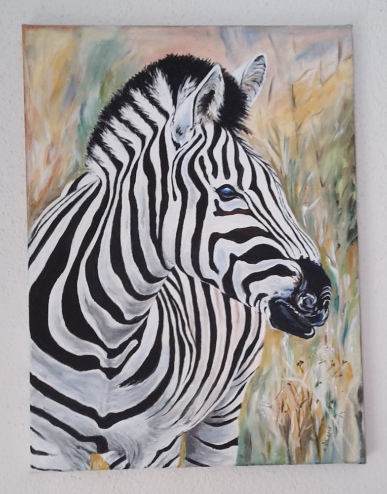 acrylbild auf leinwand zebra 30x40x2 cm meine acryl bilder pinterest acryl malerei. Black Bedroom Furniture Sets. Home Design Ideas