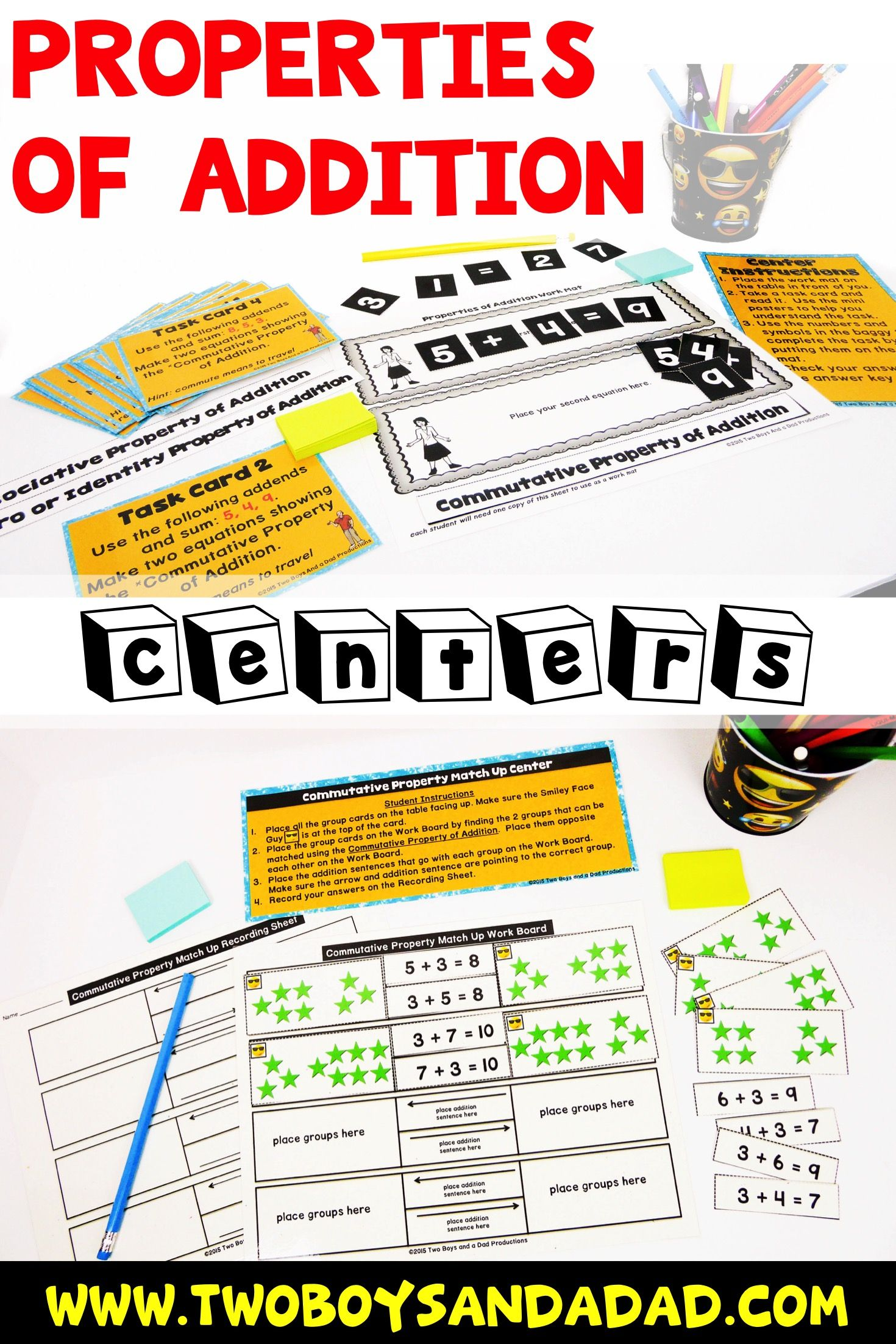 Properties Of Addition Hands On Centers With Images