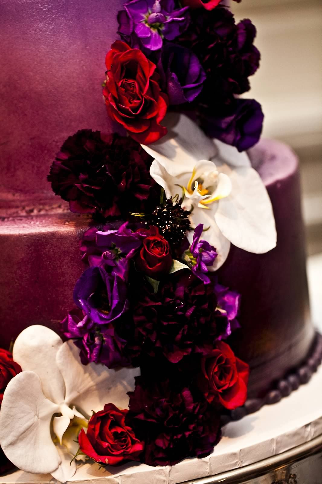 Ombre Cake Purple Wedding Flowers Red Wedding Flowers Red