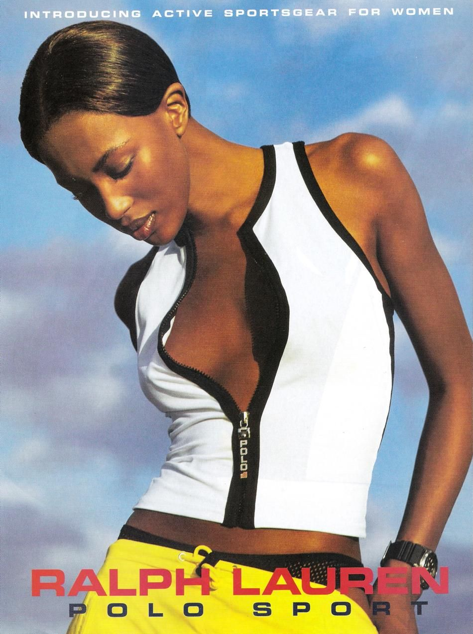 Ralph Lauren Polo Sport vintage Naomi Campbell 90s ad campaign ... 33eb31bea466