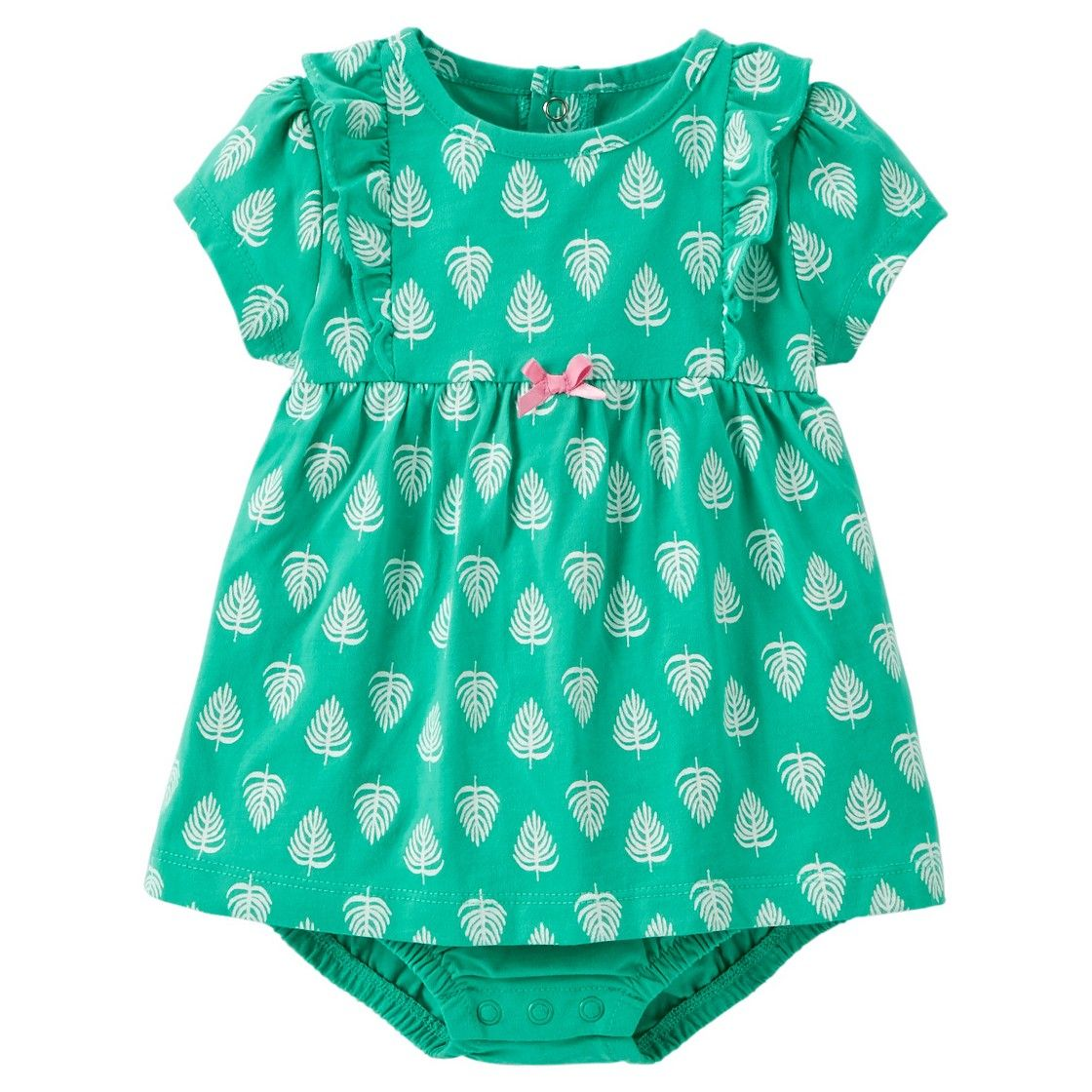 c26bccae1 Just One You Made by Carter s  Newborn Girls  Leaves Bodysuit ...