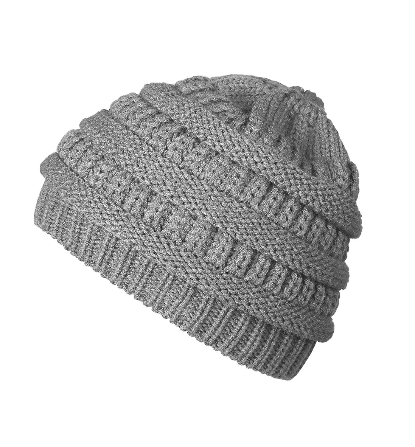 0f1b8246903 Winter Chunky Stretch Slouchy - E ligth Grey - CU185D35R8D - Hats   Caps