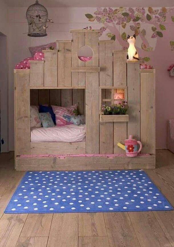 Sweet Cottage Flower Garden Little Girls Room Idea. It reminds me of the