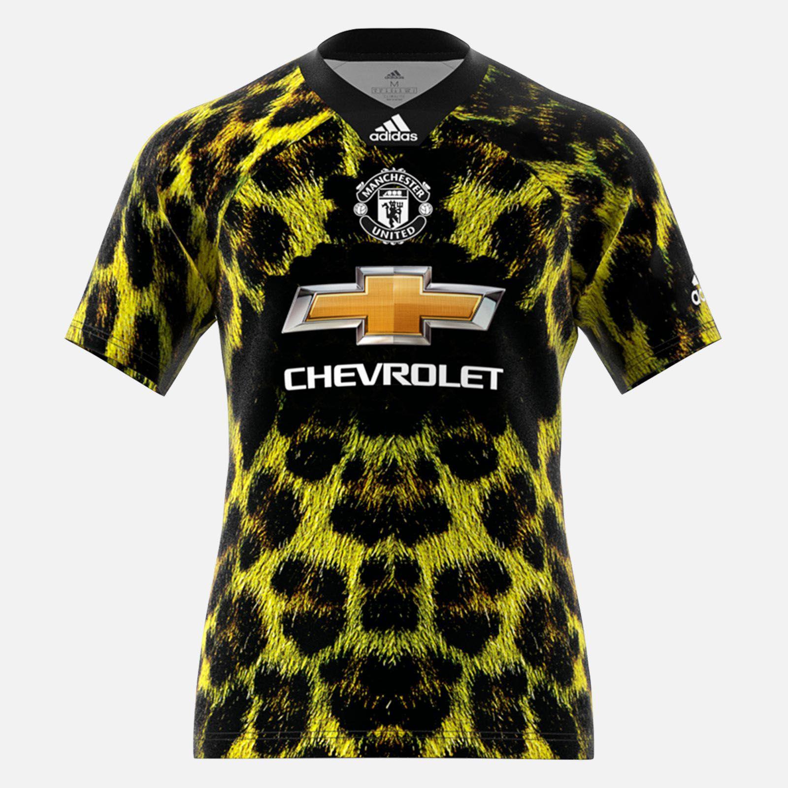 18-19 Manchester United EA Sports Green Jersey Shirt, Manchester ...
