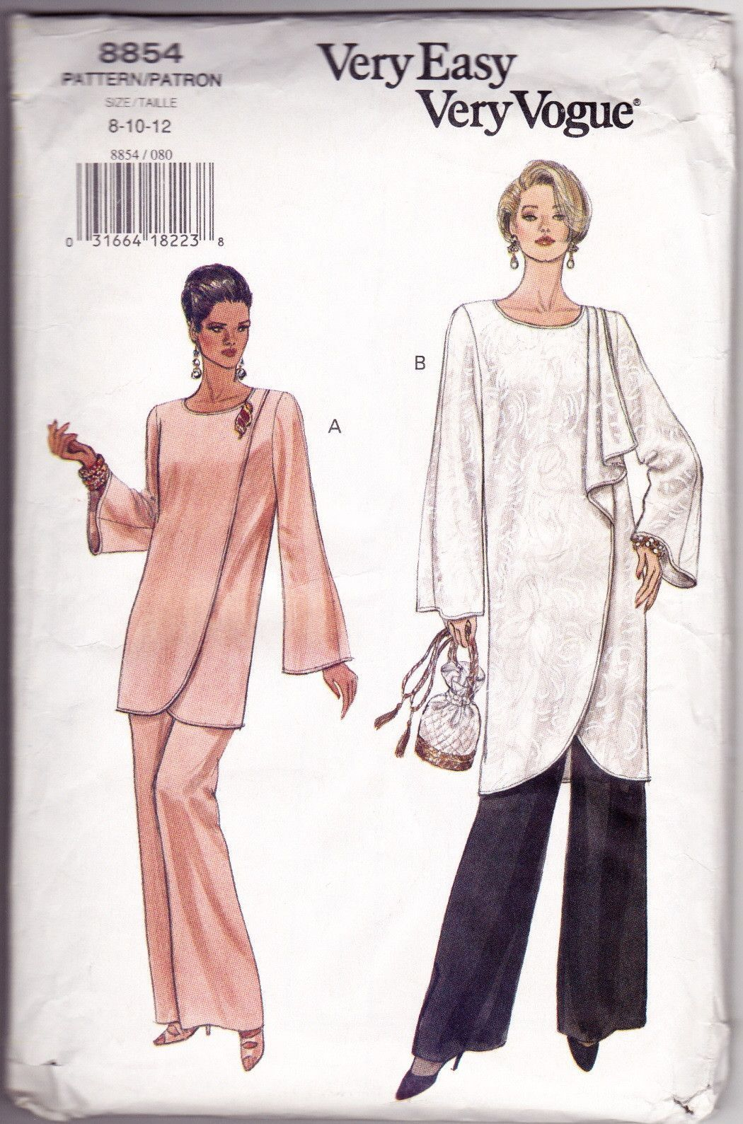 Women\'s Tunic and Pants Sewing Pattern Miss 8-10-12 Very Easy Very ...
