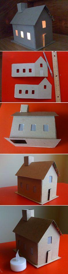 Construire Une Maison En Carton  Maquette    Maisons En