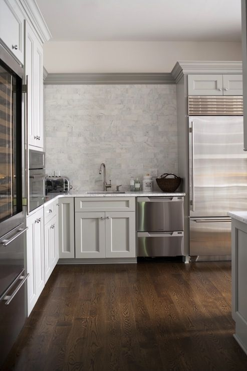 amazing kitchen design with light gray cabinets accented with gray crown moldings and paired on kitchen decor grey cabinets id=92848