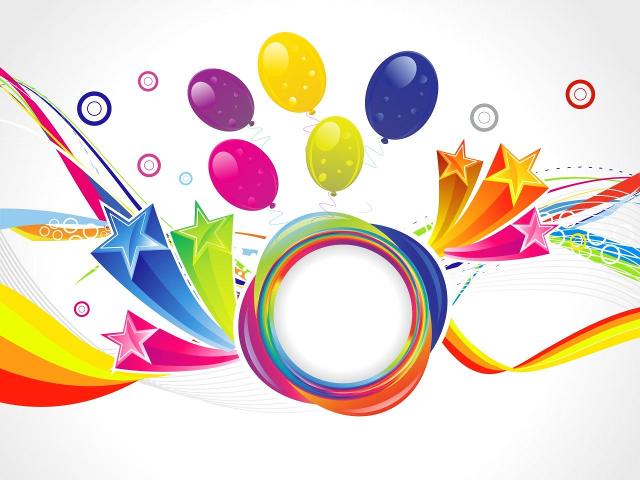 Abstract Happy Birthday Backgrounds Fondos para fotos