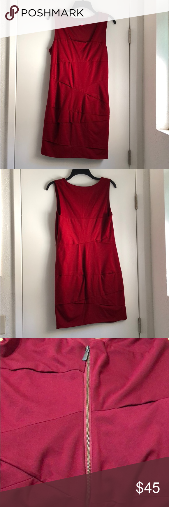 Vince Camuto Wear Red Dress Wearing Red Clothes Design [ 1740 x 580 Pixel ]
