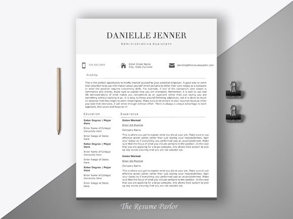 Resume Template  Page Secretary Cv Creativework  Templates