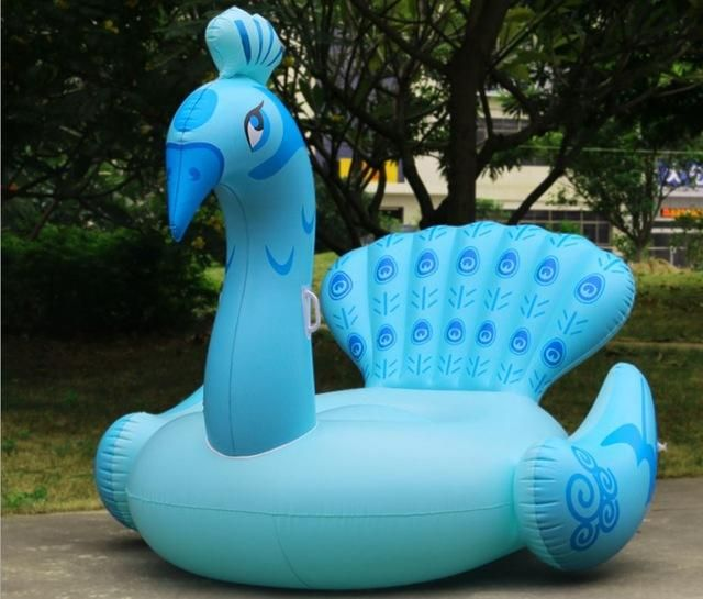 Giant Inflatable Ride On Peacock Pool Float