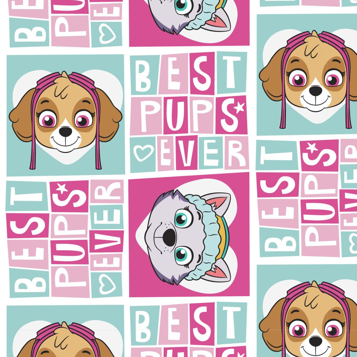 New Arrival Paw Patrol Best Pups Ever Cotton Fabric, BTY. by JinsQualityFabric on Etsy