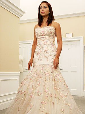 Say Yes To The Dress Lazaro Pink Gown Its Way Early But If My Daughter Wanted This Id Ju Embroidered Wedding Dress Floral Wedding Gown Blush Wedding Gown