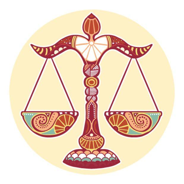 """Зодиакален знак Везни(23 септември - 22 октомври). Девиз: """"Аз уравновесявам!""""; Стихия - Въздух, качество - кардинален; Скъпоценни камъни: берил, топаз, планински кристал, светъл турмалин; Метал - мед; цвят - розов; Планета управител - Венера."""