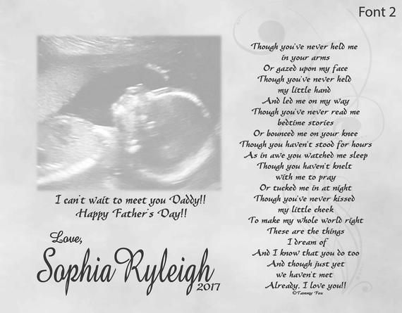 Fathers Day Gift For Expecting Dad From Unborn Baby Personalized