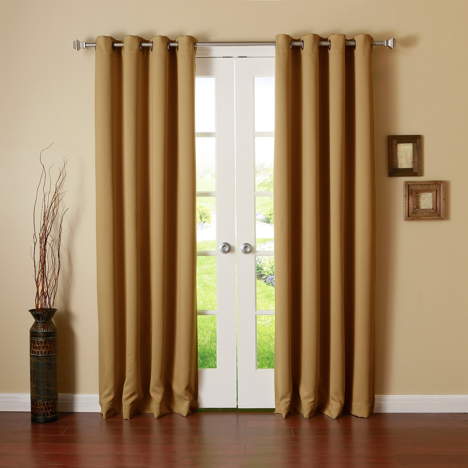 Best Home Fashion Thermal Grommet Blackout Curtain Wheat
