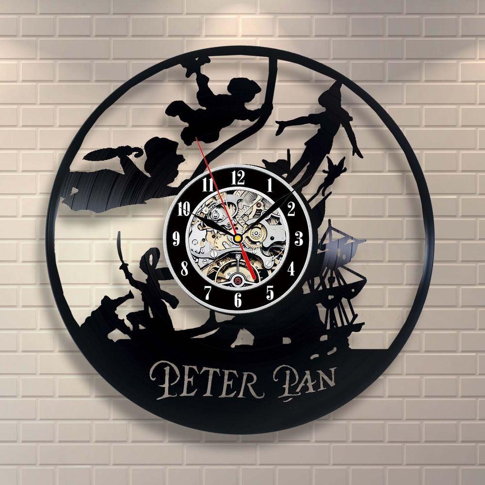 Peter pan vinyl clock art pinterest peter pan disney animal peter pan vinyl clock amipublicfo Image collections