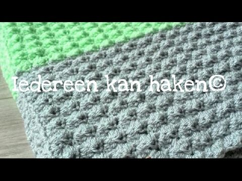 Iedereen Kan Haken Golfjes Steek Blanket Stitch Leren Haken