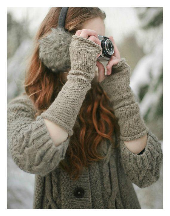 Long Arm Warmers | Wool Arm Warmers | Fingerless Gloves | Alpaca ...