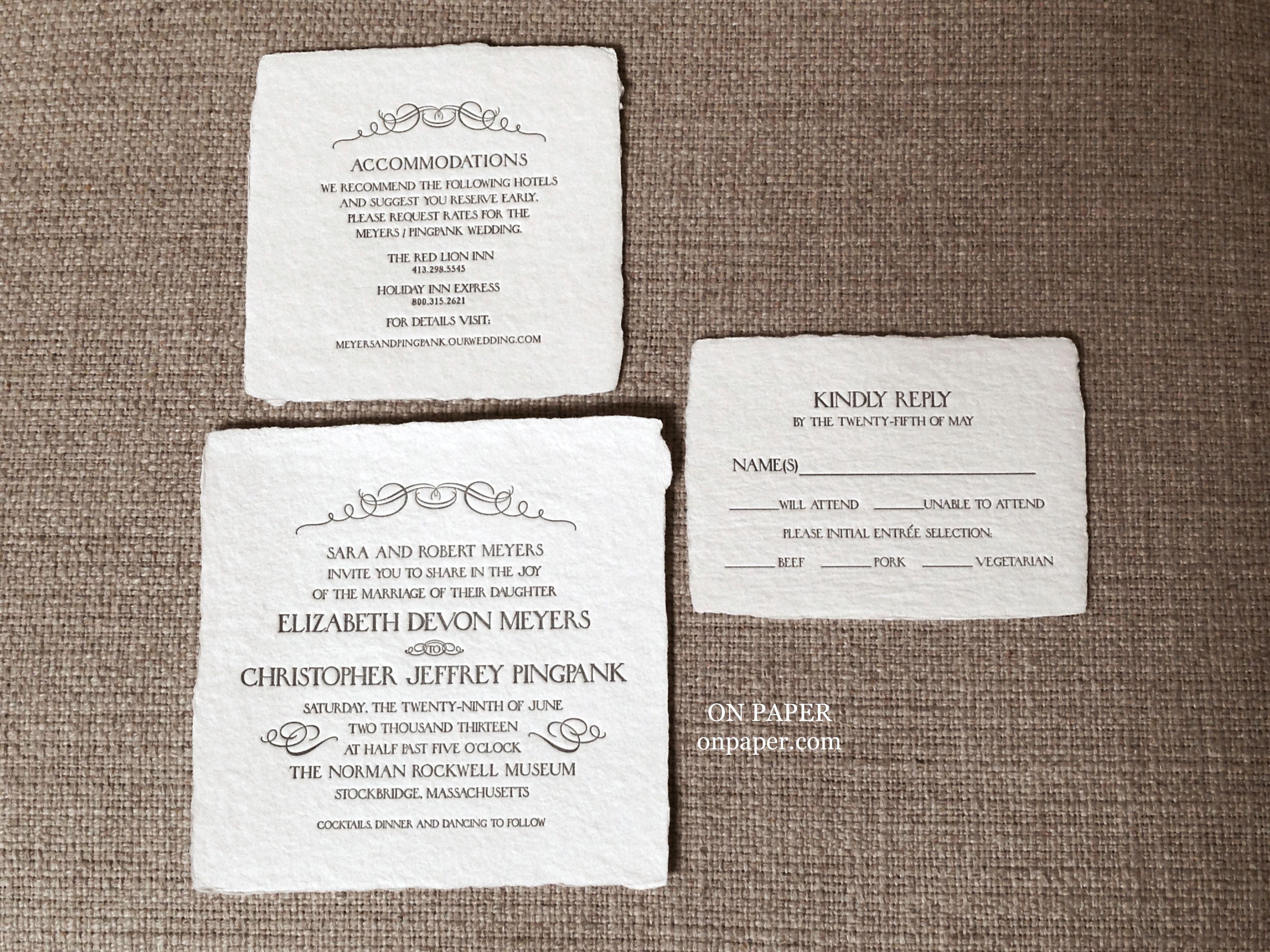 Available At: On Paper   Columbus. Letterpress InvitationsWedding  InvitationsColumbus Ohio Awesome Design