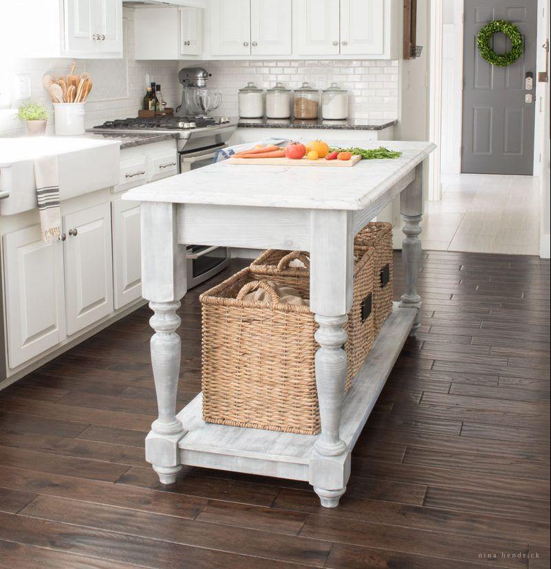 enchanting farmhouse kitchen design   Build Your Own DIY Kitchen Island   My next big project ...