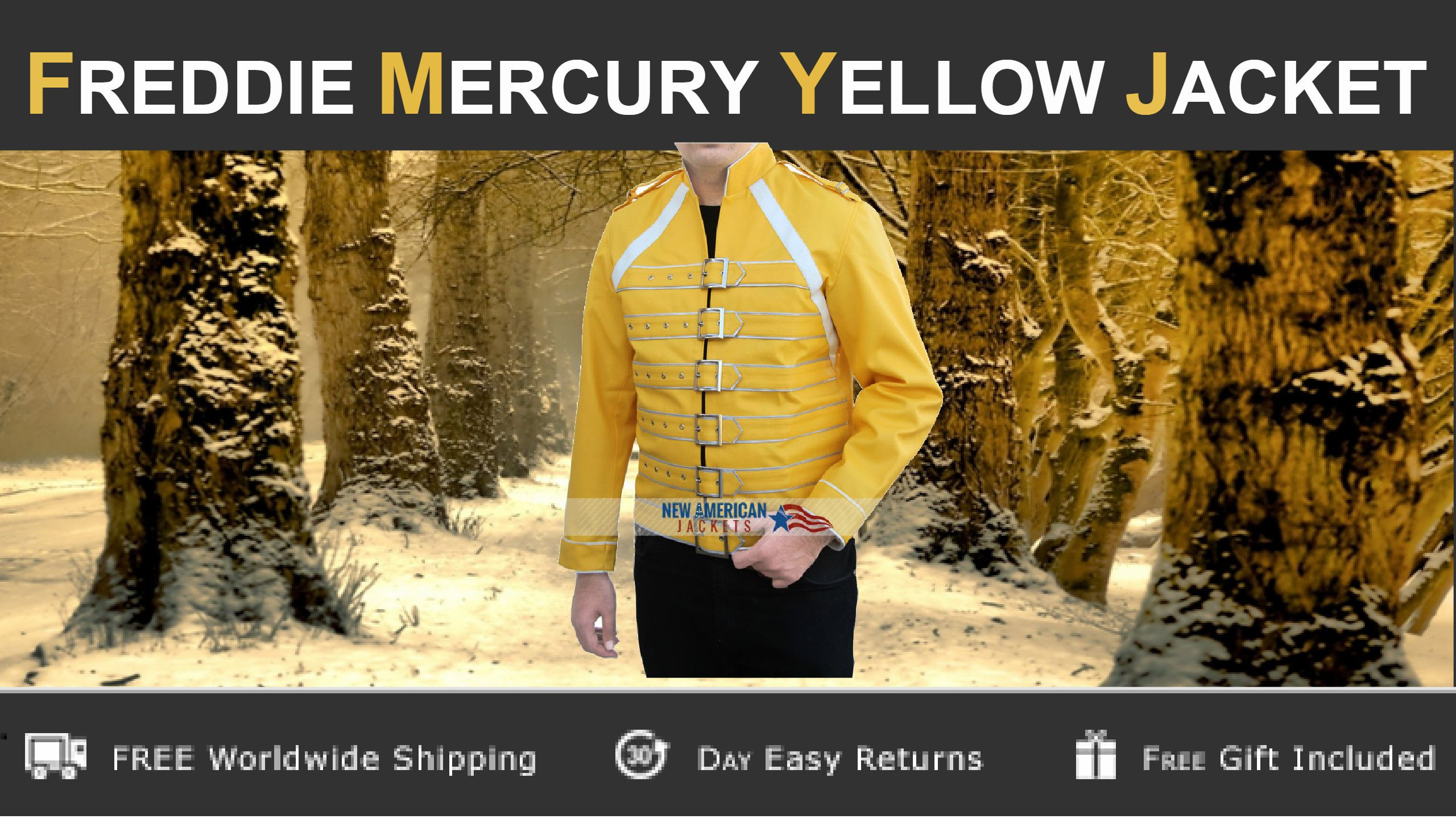 Special winter Sale! This Freddie Mercury Yellow Jacket is marvelous outfit on sale at discounted price.   #winterSale #FreddieMercury #Celebrity #Christmas #everydaystyle #styleinspo #styleatanyage #clothes #fashiondaily #fashionlovers #fashiondesigner #Christmassale2015