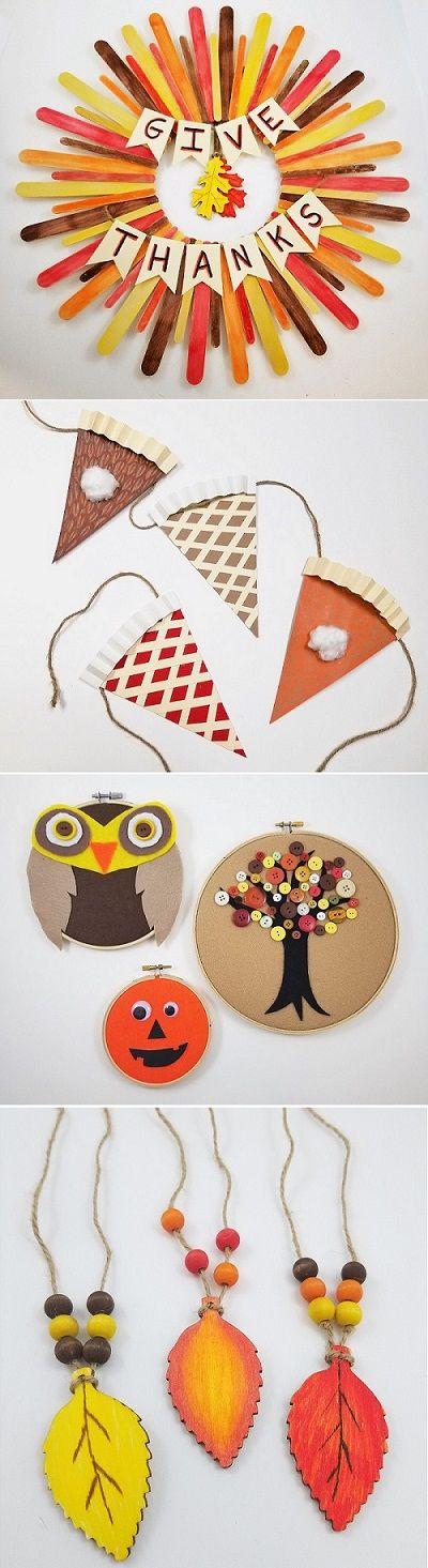 10 Diy Fall Thanksgiving Craft Ideas Thanksgiving Fall