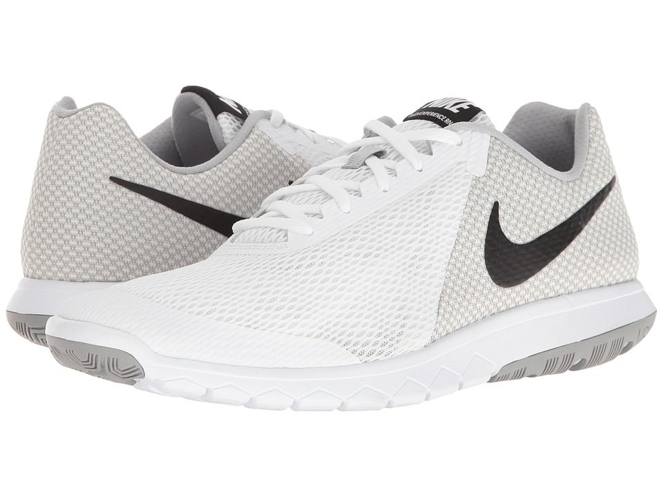 88c4f2c8074e Nike Flex Experience RN 6 (White Black Wolf Grey) Men s Running Shoes