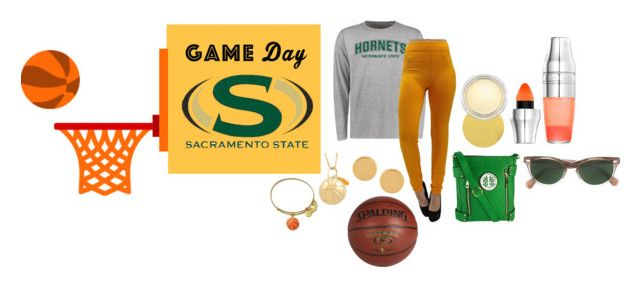 """California State University Game Day"" by michelle858 ❤ liked on Polyvore featuring Fremada, MKF Collection, Alex and Ani, Moscot, Trina Turk, Spalding, Lauren B. Beauty and MAC Cosmetics"
