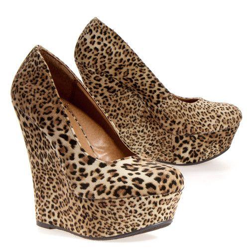 Delicious Womens Meroz Wedge - Dress Heel/wedge Heels Shoes leopard