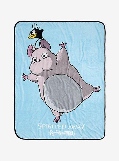 Studio Ghibli Spirited Away Boh Mouse Yu Bird Throw Blanket Studio Ghibli Spirited Away Studio Ghibli Ghibli