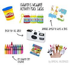What To Include In A Child S Wedding Activity Pack Children Activitieskid