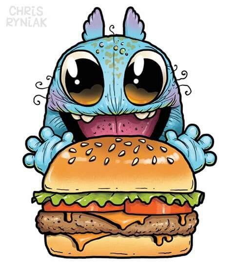 Yum Yum Cute Monsters Drawings Cartoon Drawings Cute Monsters